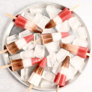 Lody napatyku czekoladowe, truskawkowe iwaniliowe
