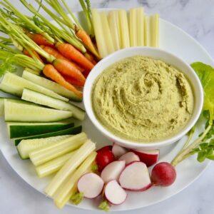 Hummus zzielonego groszku