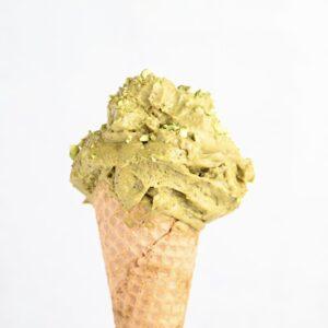 Kremowe lody pistacjowe